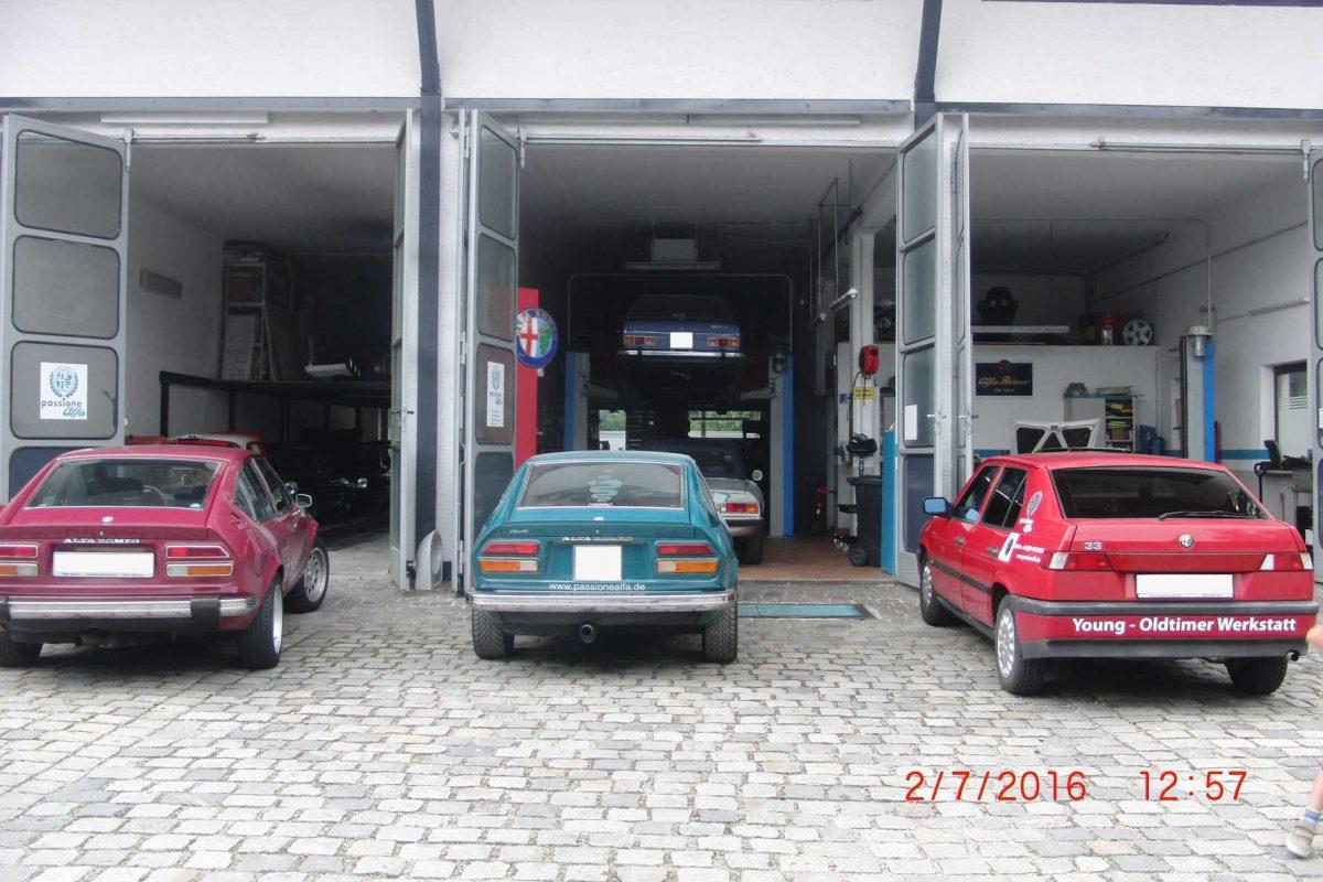 Oldtimer Werkstatt München von außen
